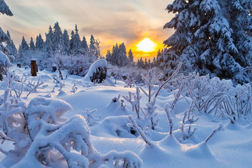 西岭雪山美景